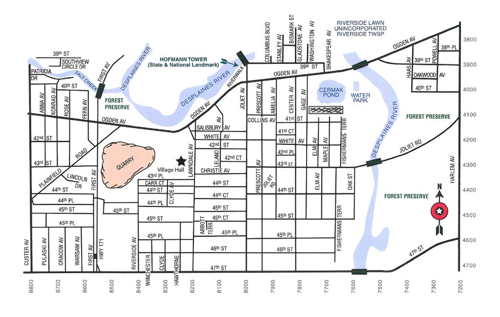 Lyons Map - Village of Lyons on