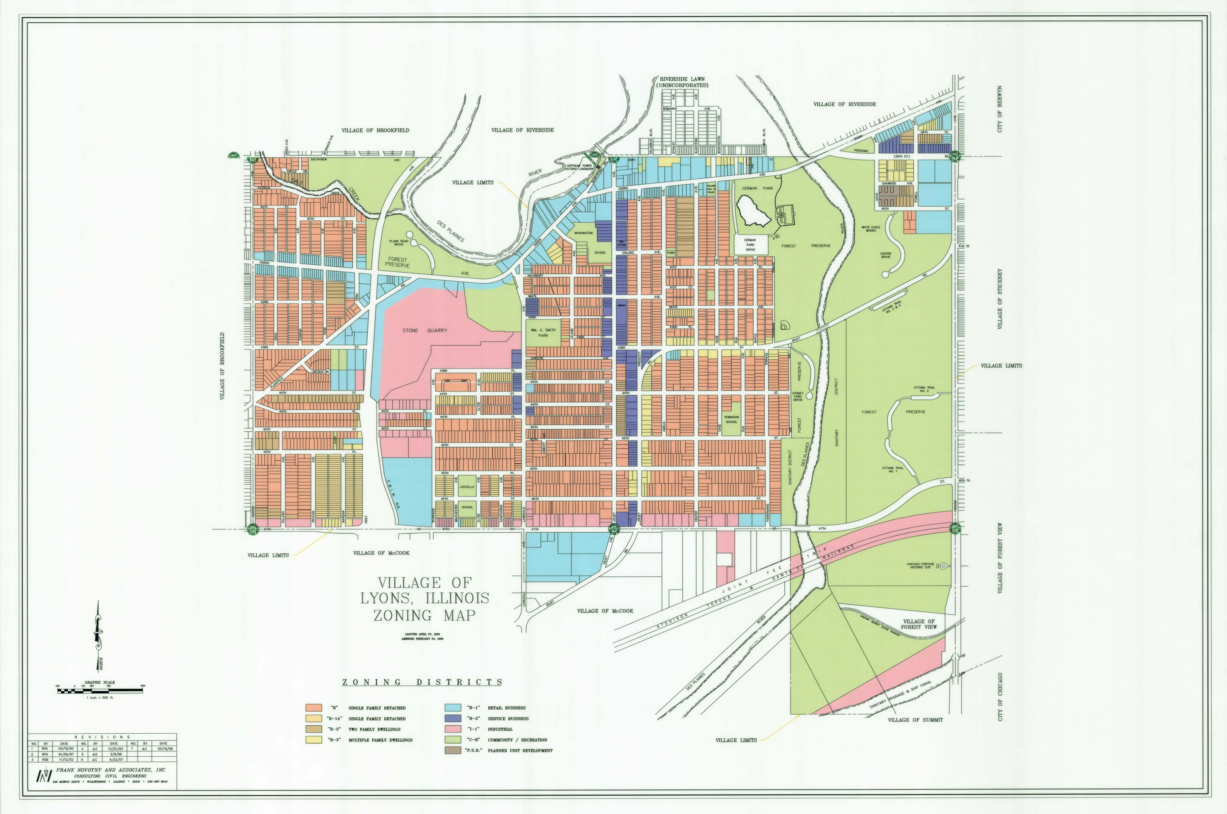 Lyons Illinois Map.Documents Village Of Lyons